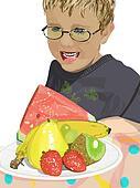 boy with healthy choice