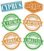 Cyprus cities stamps set