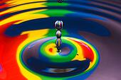 multicolored water droplet black and white outlined
