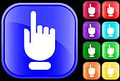 Icon of hand with pointing/selecting