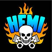 Hemi Skull and Pistons