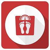 weight red flat icon