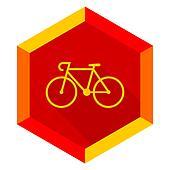 bicycle flat design modern icon