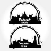 Warsaw and budapest