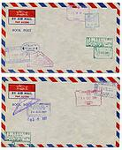 air mail background