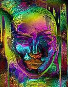 Metallic Purple Abstract