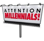 Attention Millennials Billboard Sign Attract Generation Y Customers