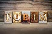 Purim Concept Letterpress Theme