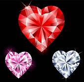 Precious Gems in Heart Shape