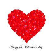 red petal heart