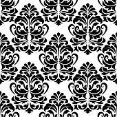 Heavy arabesques seamless pattern