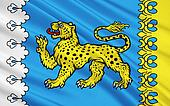 Flag of Pskov Oblast, Russian Federation