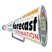 Forecast Bullhorn or Megaphone for Prediction Estimate Projectio