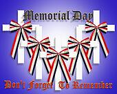 Memorial Day Patriotic Graphic 3D