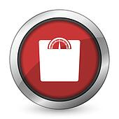 weight red icon