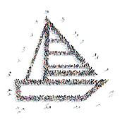 people shape  boat icon