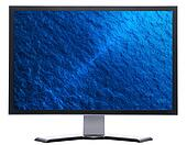 monitor with blue ripples water texture