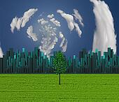tree and city