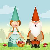 gnomes in the forest