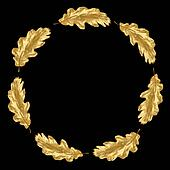 Golden Oak Leaf Garland