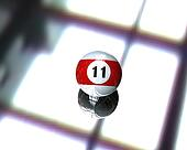 one pool billiard ball