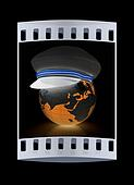 Marine cap on Earth. The film strip