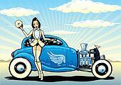 Hotrod To Heaven kustom culture style pin up illustration