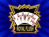 Royal Flush Logo blue