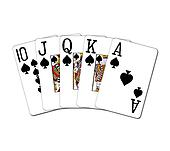 Royal Flush spades