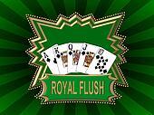 Royal Flush Logo green