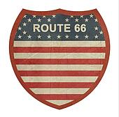 Grunge American route 66 highway sign