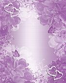 Wedding invitation lavender floral