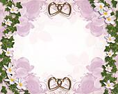 Ivy and Plumeria Floral Wedding Border