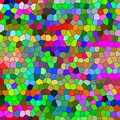 Multicolored odd shapes mosaic illustration.