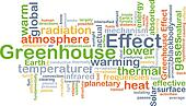 Greenhouse effect background concept