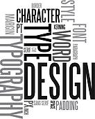 Design and typography background