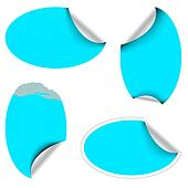 Blue oval labels