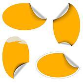 Orange oval labels
