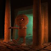 Cursed 3d Egyptian mummy