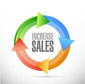 increase sales cycle sign concept