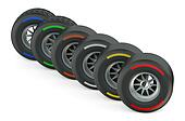 set of racing wheels