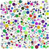 color bubbles vector