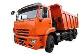 The orange lorry