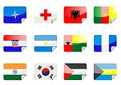 Glossy flags