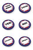 Election button collection