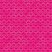 Hearts Contour Pattern in Shades of Pink, vector