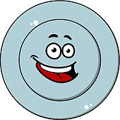 Happy blue plate with a laughing face