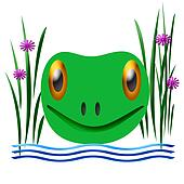 friendly frog illustration