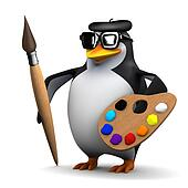 3d Penguin is a great artist