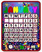 2010 calendar january